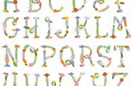 Fleur – a floral alphabet sold as monograms (2014)