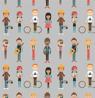 hipsters pattern