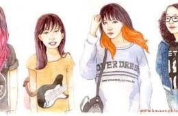 Rock 'n' Roll Daughters Watercolor Portraits (2015)