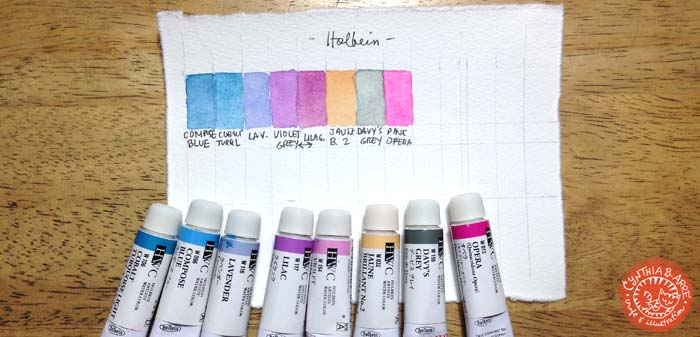 holbein watercolor swatches
