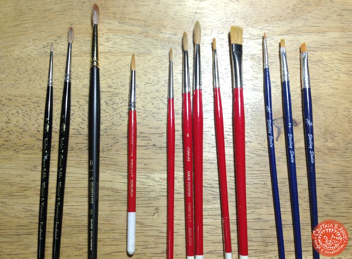 my watercolor brushes