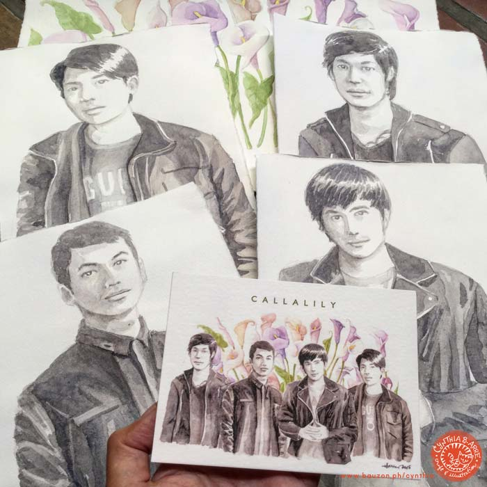 callalily band 10th year watercolor illustration