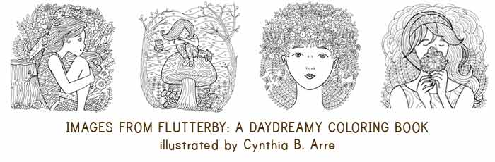Flutterby Coloring Book by Cynthia Arre