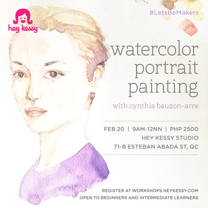 watercolor portrait painting workshop