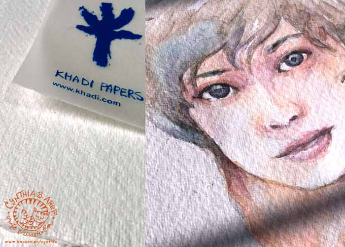 khadi handmade watercolor paper a5