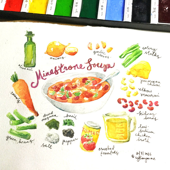 watercolor food illustration workshop