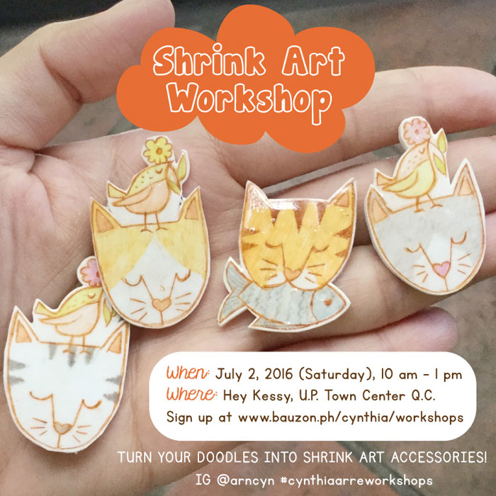 shrink plastic crafting workshop