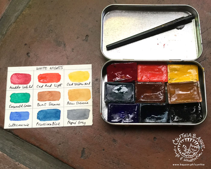 White Nights Watercolors customized palette