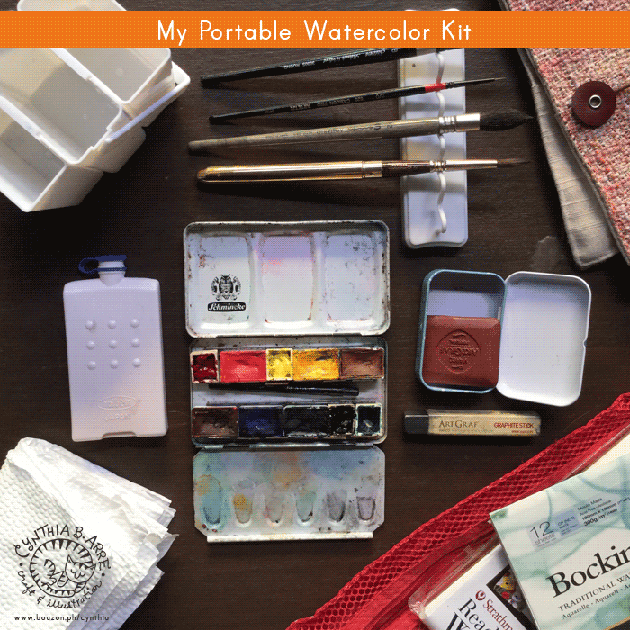 DIY postable watercolor kit