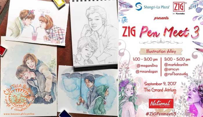 Kuretake Zig Pen Meet 3