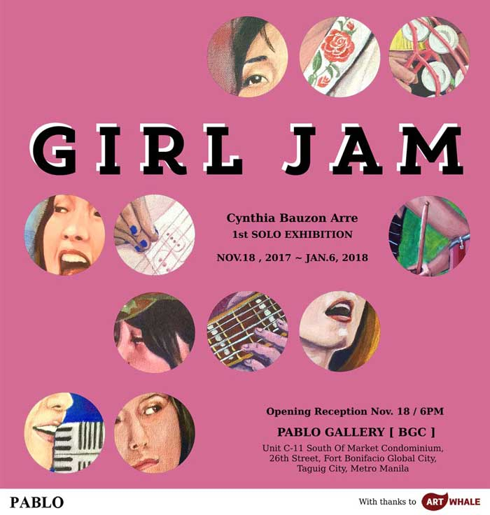 Girl Jam exhibit Cynthia Bauzon Arre Pablo Gallery