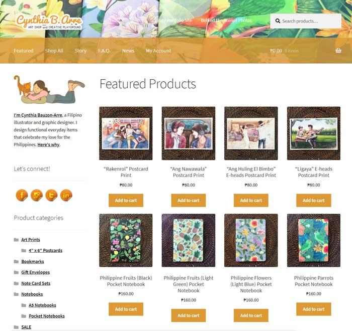 cynthia bauzon arre online shop