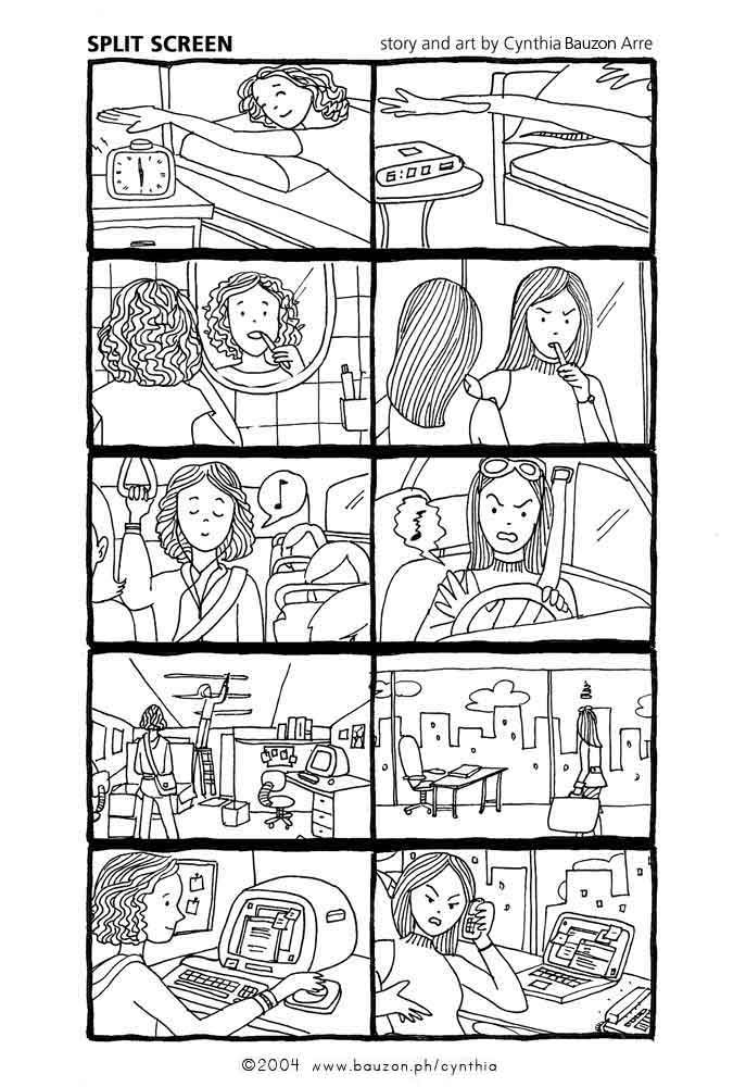 Split Screen A Short Comic For The Hey Comics Book