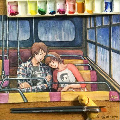 biyaheng bus watercolor