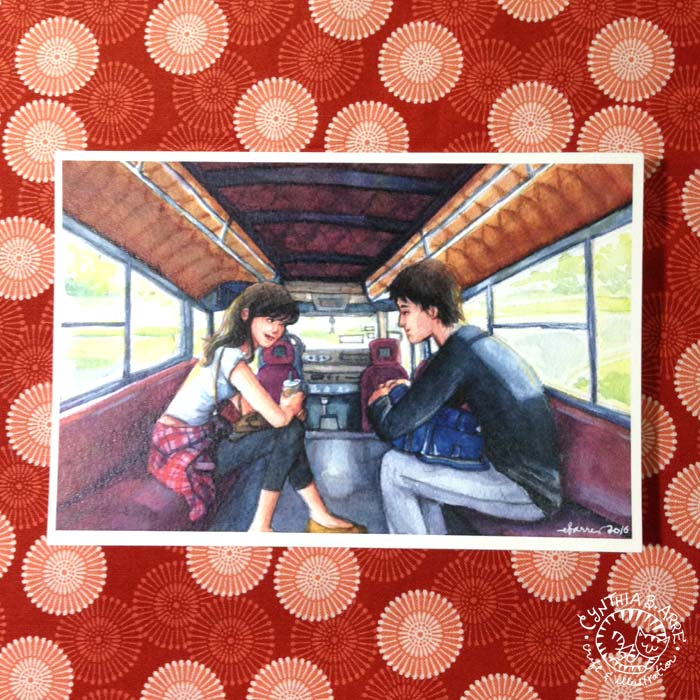 jeepney watercolor painting cynthia bauzon arre