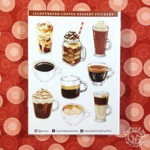 Coffee Desserts sticker set