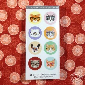 hipster cats stickers
