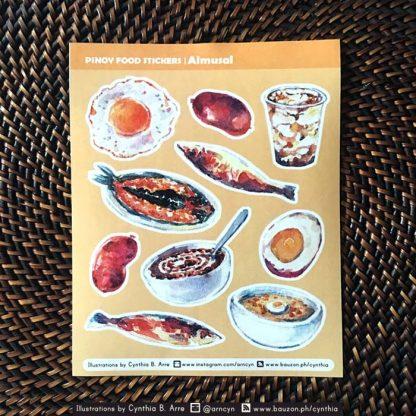 pinoy food almusal (breakfast) stickers