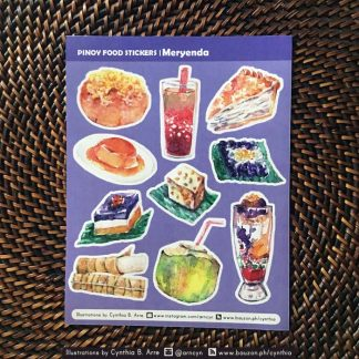 pinoy food meryenda kakanin stickers