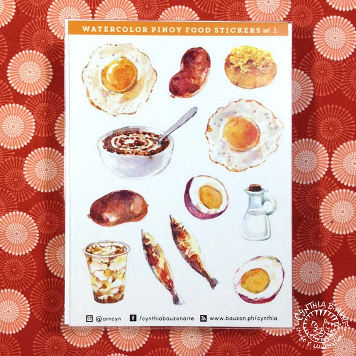 Pinoy Food Stickers Almusal Breakfast