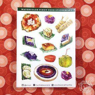 Pinoy food stickers kakanin