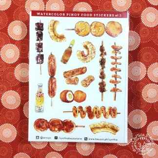 Pinoy Food Stickers Street Food