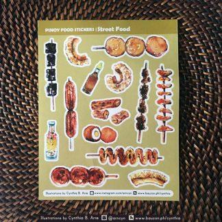 philippine street food stickers