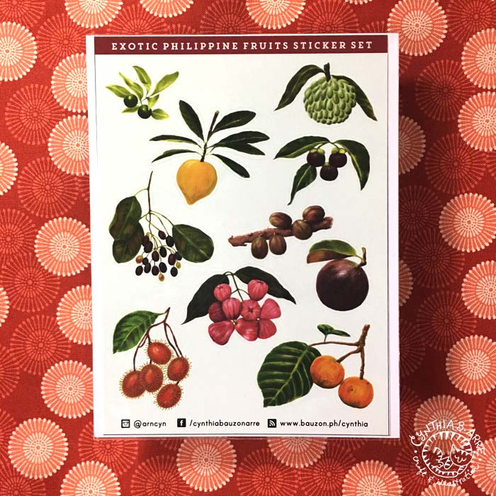 exotic fruits phlippines stickers
