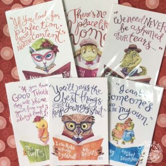 creature literary quotes postcards