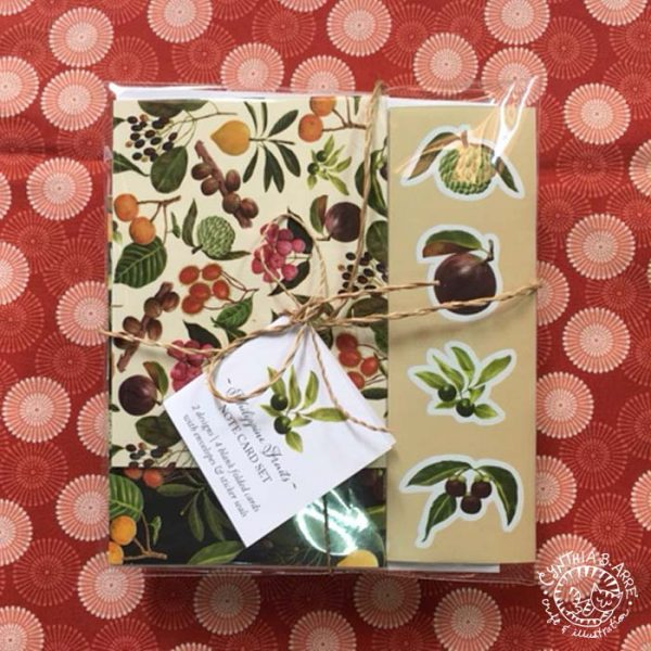 Philippine fruits note card set