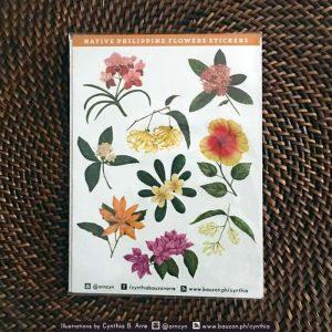 philippine flowers stickers